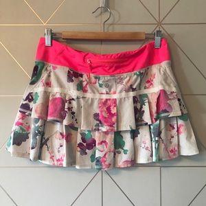 Lululemon Run Pace Setter Skirt Blurred Blossoms